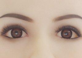 Braune Augen Real Doll